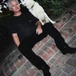 Joe Bear with his dog Blue